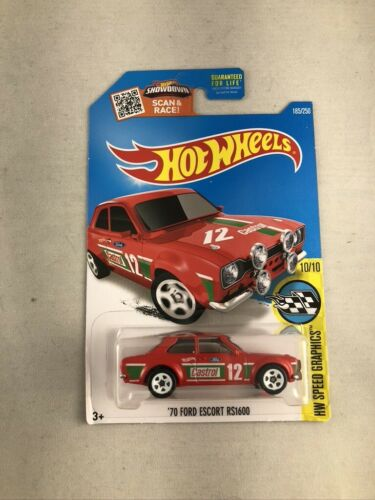 Hot Wheels 2016 HW Speed Graphics '70 Ford Escort RS1600 Castrol Red