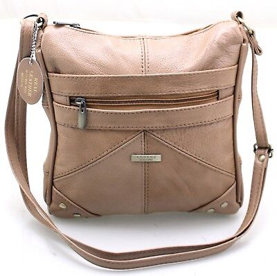Ladies Womens Lorenz Real Leather Messenger CrossBody Shoulder HandBag