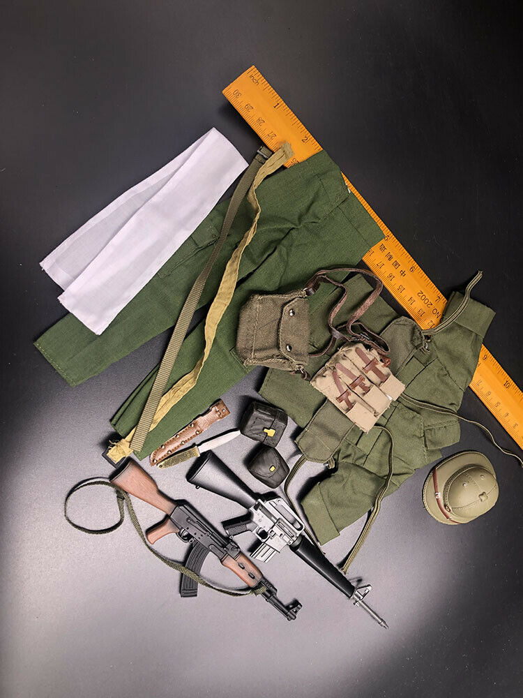 16 Scale SinoVietnamese War Solider Uniform Set & M16 & AK for 12 cifra