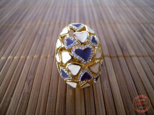 Anello Donna Cuore Amore Fascia Grande Ingombrante Base color Oro Idea Regalo
