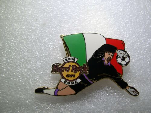 ROME,Hard Rock Cafe Pin,2006 Worlds Soccer Cup Series with Flag