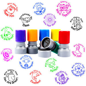 Details About Custom Name Rubber Stamp Self Inking School Teacher Homework Personalized Gift