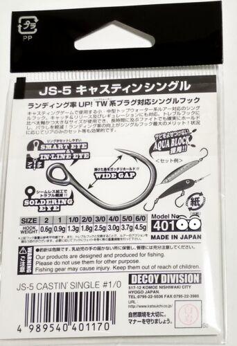 Decoy JS-5 CASTIN/'S Unique pour Topwater Prise Crayon Appât Popper Etc Size #