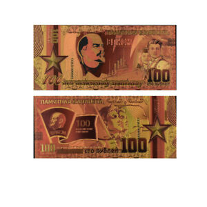 Lenin-Famous-Person-24k-Gold-Foil-Colorful-Gold-Banknote-Collectible-Art-Crafts