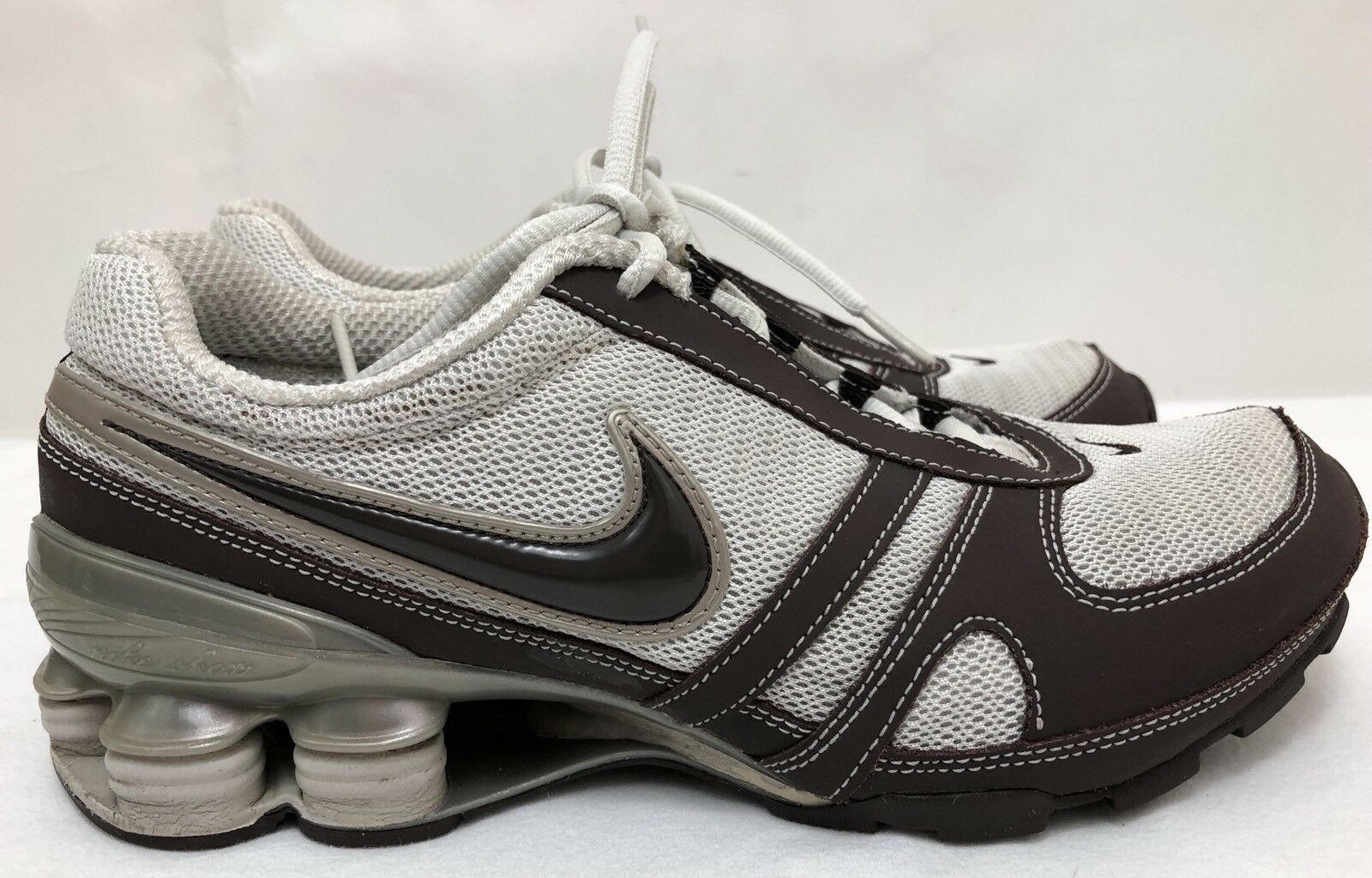 2007 Womens NIKE SHOX SIZE 316888-021 Brown/White Running Shoes SIZE SHOX 6.5 ~RARE COLOR~ 370bf5