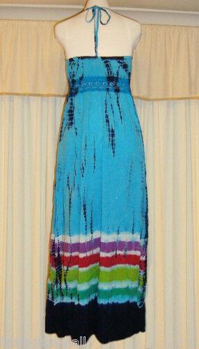 STUNNING STEVE MADDEN TIE-DYED MAXI MAXI MAXI DRESS size L 06ada8