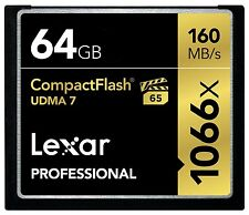 New Lexar Pro UDMA 7 Compact Flash 64GB Memory Card - Speed Up To 160MB/s Read