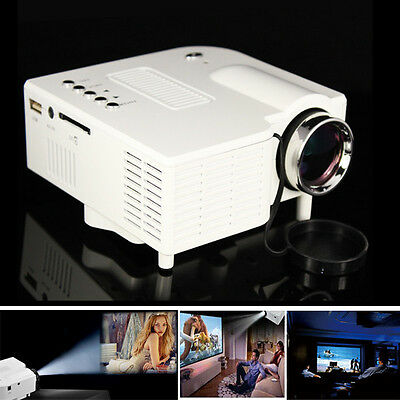 UC28 HDMI Micro AV LED Digital Mini Video Game Projector Multimedia player White