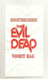 EVIL DEAD vomit bag #2 NM OOP rare COLLECTIBLE limited edition NOVELTY horror