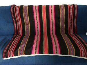 Peru-Andes-Multicolor-Manta-made-of-handwoven-Llama-wool