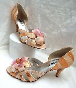 e91831cddbc Image is loading ESINO-Designer-Wedding-Shoes-Copper-amp-Salmon-Beautifully-
