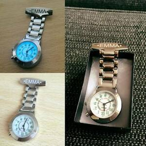 Personalised-Engraved-Chrome-Nurse-Carers-Fob-Watch-SAME-DAY-SHIPPING