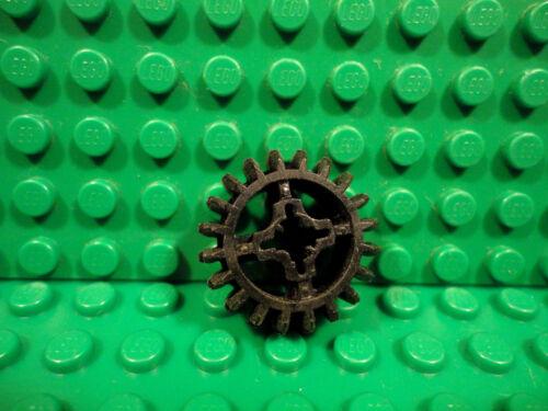 Lego 1 Black technic gear 20 tooth beveled