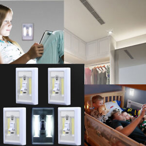 New-COB-LED-Wall-Switch-Wireless-Closet-Cordless-Night-Light-Battery-Operated-C