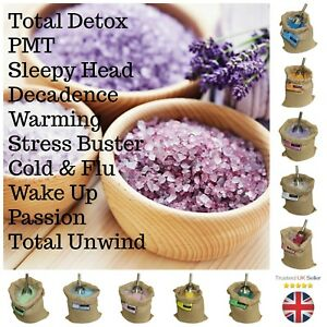 SCENTED-BATH-SEA-SALTS-AROMATHERAPY-DETOX-PMT-STRESS-SLEEP-ANCIENT-WISDOM-ML