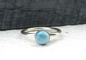 Statement-Rings-Larimar-Stone-Ring-Solid-925-Sterling-Silver-Ring-Band-Ring-dr18