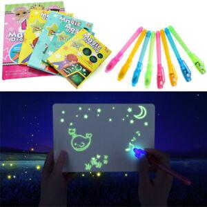 Planche-Dessin-Lumineuse-Enfant-Tablette-Magique-Stylo-Fluorescent-Jouet-Lumiere