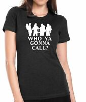 Ghostbusters who Ya Gonna Call? 80's Movie Womens T-shirt Jr. Size