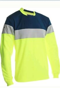 cd1c6b0a1 Vizari Mateo Soccer Goalkeeper Jersey Neon Yellow Navy Size AM Adult ...