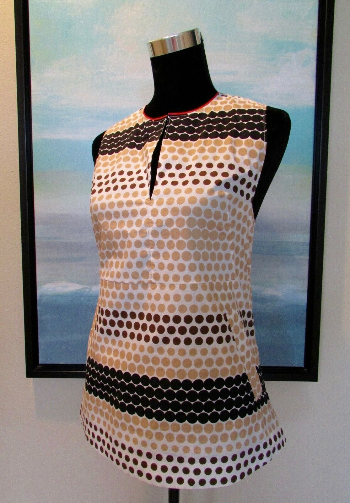 MARNI Polka Dot  Cotton Tunic Top Made in  Sz 40 US 4