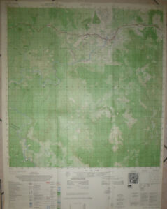 Lai Khe Vietnam Map.6736 Iv Rare Map An Khe Golf Course Camp Radcliff 1969
