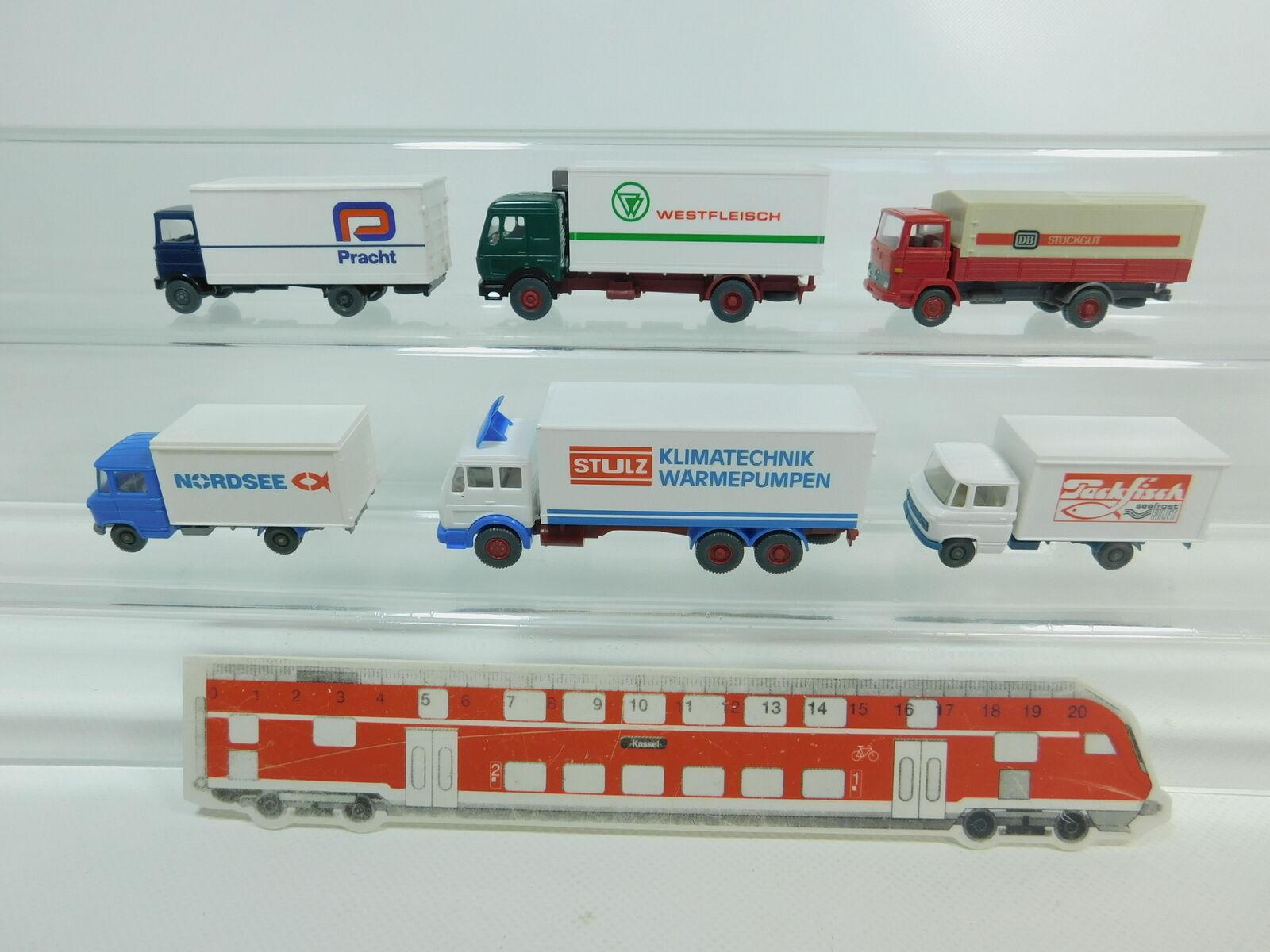 Bk40-0, 5 X Wiking H0   1 87 Car MB  DB +Pracht+westfleisch+ Stulz etc.