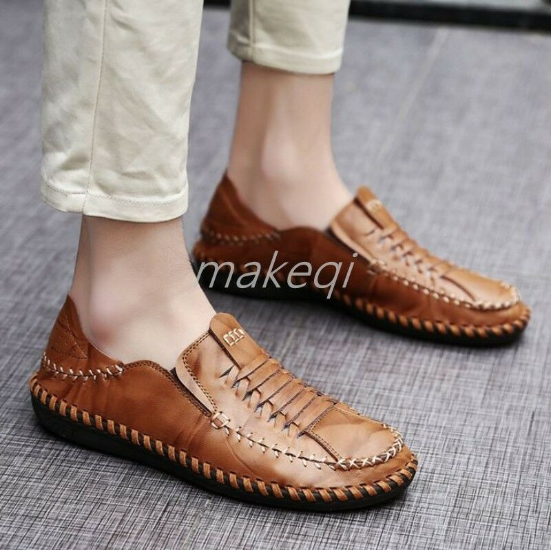 New Mens Casual Slip On Hollow Breathable Loafers shoes Summer Driving Moccasin