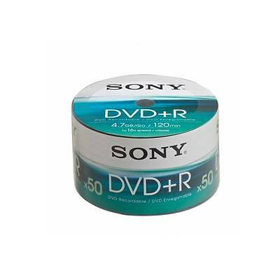 50pk Sony DVD-R 4.7GB DVD Recordable (16x) 120Min 50DPR120BULK Spindle/Cake Box