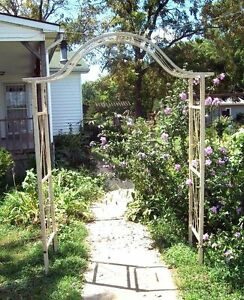 Image Is Loading Wrought Iron Egyptian Flower Arbor Great Metal Garden