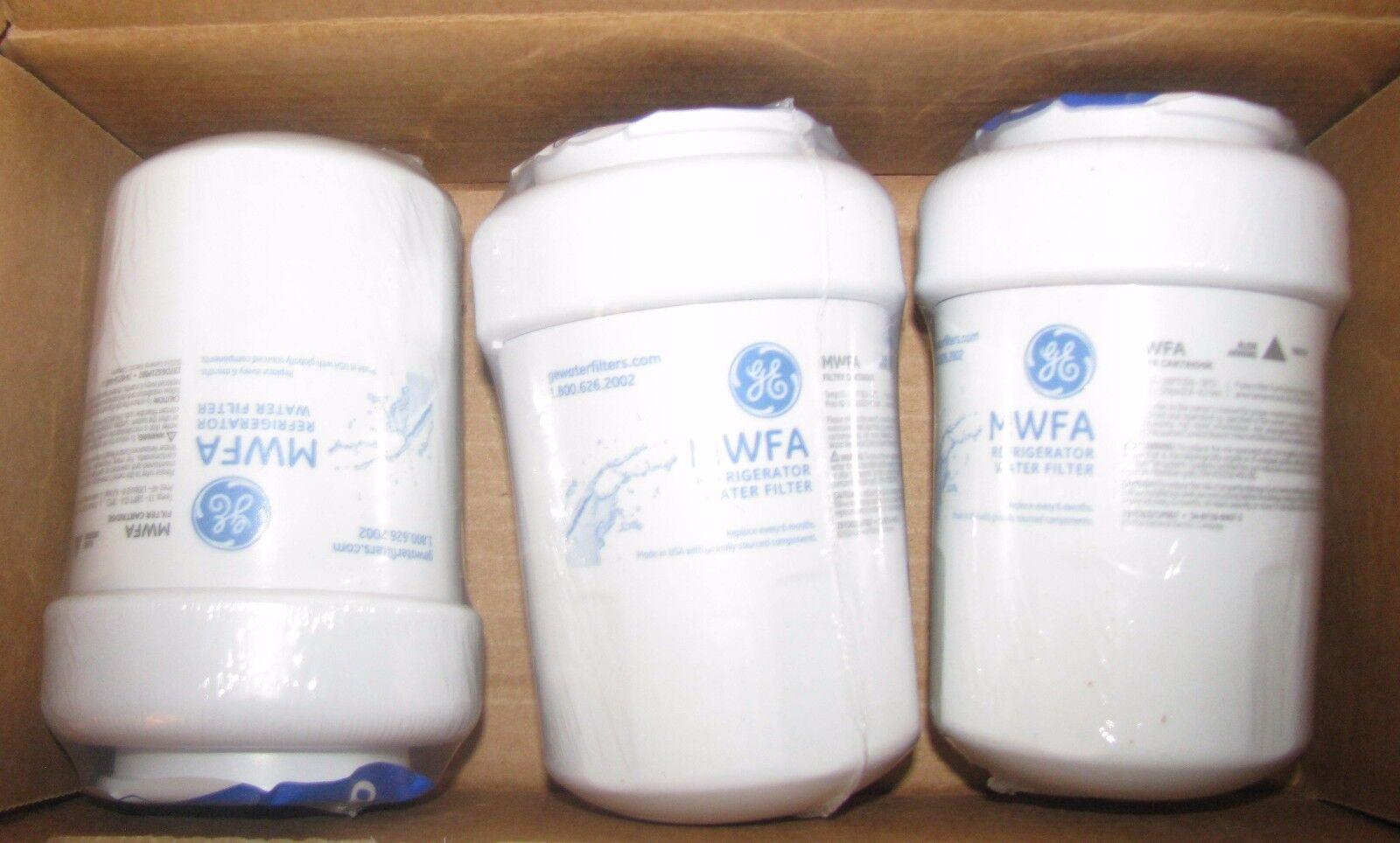 GE MWFA 3PK Refrigerator Water Filter Profile Box of 3