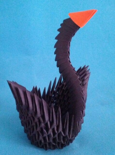 Hand Made 3d Origami Swan A Great Gift Ebay