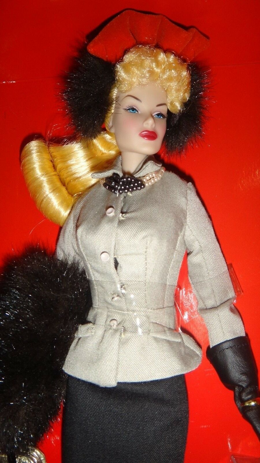 Moda realeza Hollywood Lana Turner Muñeca de regalías Hollywood adecuado