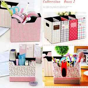 Sale Makeup Cosmetic Stationery Paper Board Storage Box Desk Decor Organizer Ebay