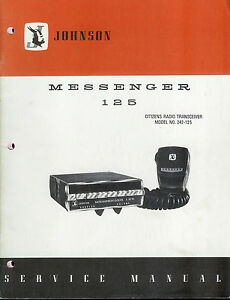 original factory ef johnson messenger 125 cb radio service manual ebay rh ebay com cb radio mansfield uk cb radio manuals pdf