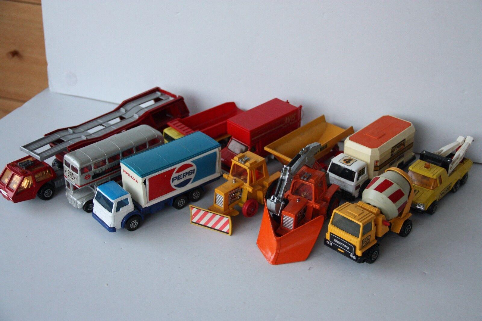 Jahrgang 1976 matchbox superkings 10 fahrzeuge  auto -, bus -, gruppe 4 aa
