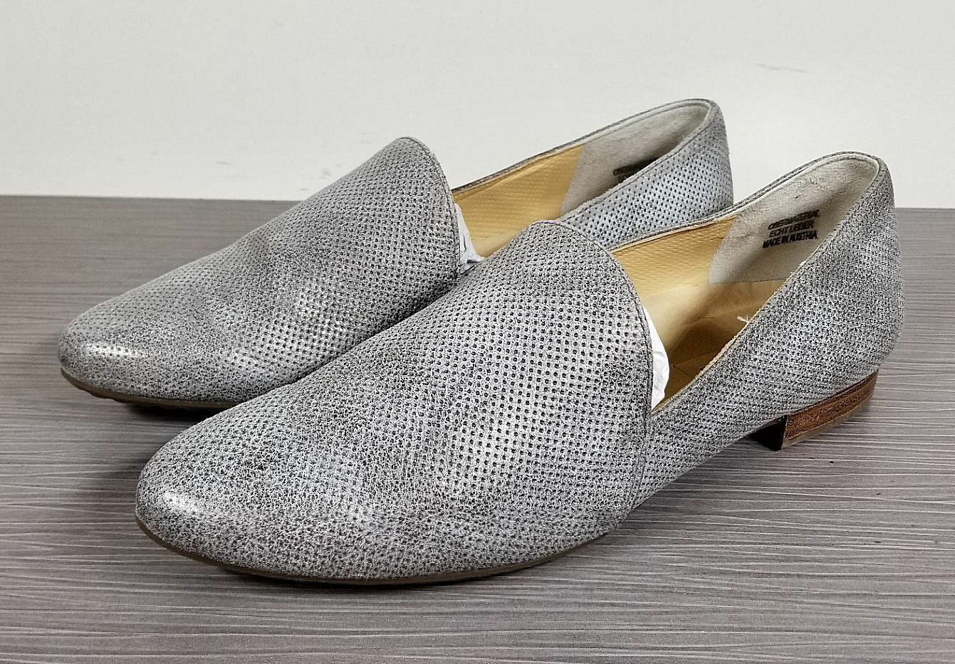 Paul Green Naomi Naomi Green Loafer, Smoke Perforated Leather, Womens Size 7 US / 4.5 UK e0f901