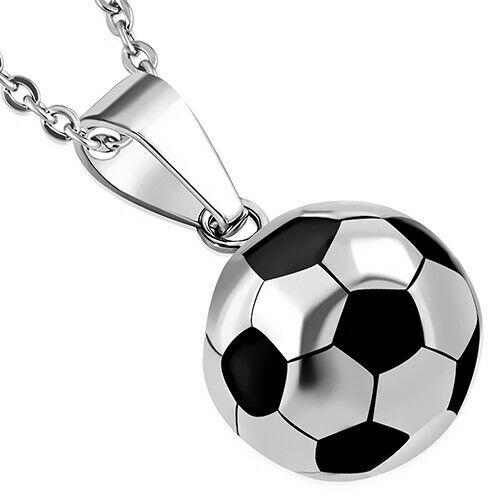 El fútbol remolque de acero inoxidable caballeros hombres chicos kicker futbolista joyas regalo