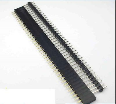 20 PCS Male & Female 40pin 2.54mm SIL Header Socket Row Strip PCB Connector Cool