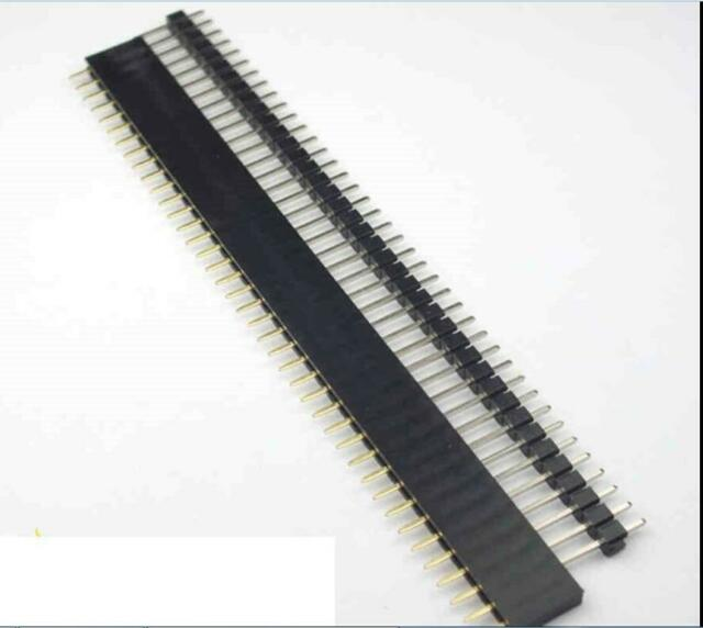 20 Pcs Male & Female 40 Pin 2.54mm SIL Header Socket Row Strip PCB Connector SWU