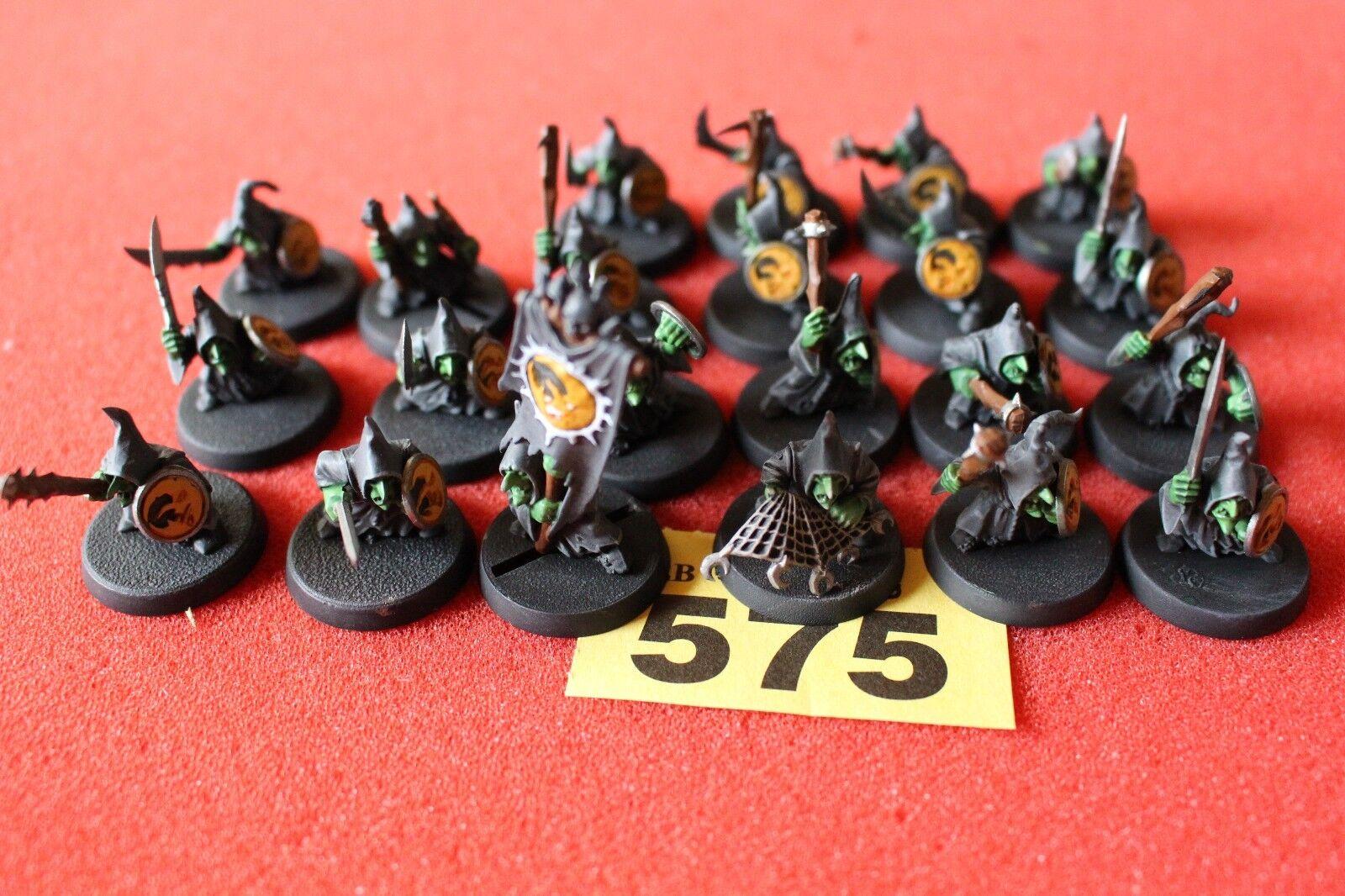 Games Workshop Warhammer night gobelins main armes Warriors Regiment Commandement
