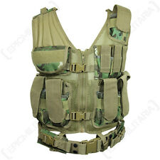Arid Woodland Camo USMC Tactical Vest - Rig Assault Army Airsoft Paintball New