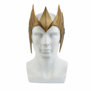 Hand Made Aquaman Queen Mera Cosplay Costume Mask Helmet Halloween Accessories