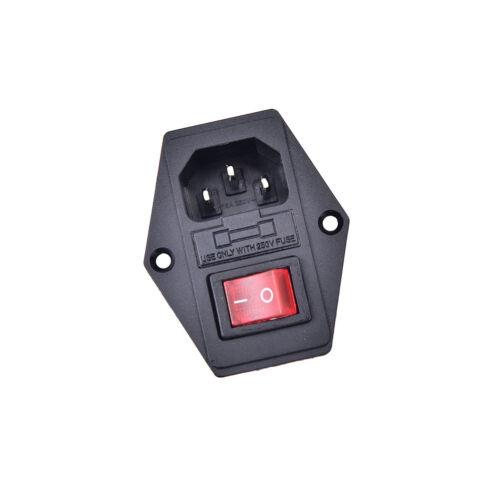 3Pin iec320 c14 Einlassmodul Stecker Sicherungsschalter männliche Steckdose QY