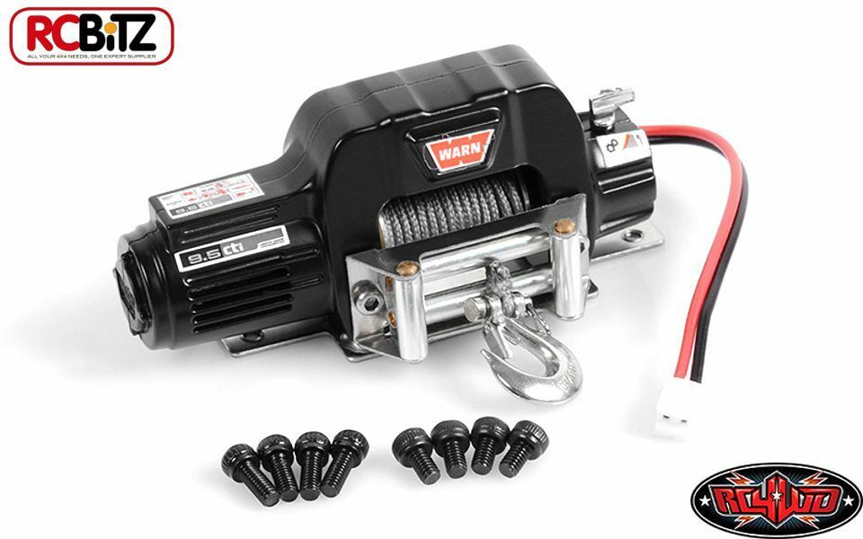 RC4WD 1 10 Mini Warn 9.5cti Winch Z-S1571 SMALL with Mounting plate & Screws