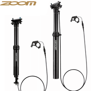 Zoom MTB Dropper Seatpost Height Adjustable Routing 100mm Travel bike seat post