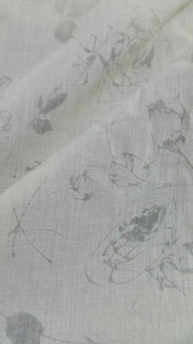 PERFORARED  FLOWERS BEIGE THIN POLYCOTTON FABRIC-SOLD BY THE METER