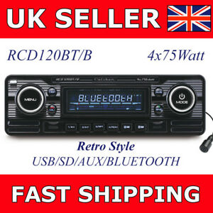 Details about Caliber RCD120BT/B Cheap Retro Car Stereo CD Player Bluetooth  USB SD AUX Black