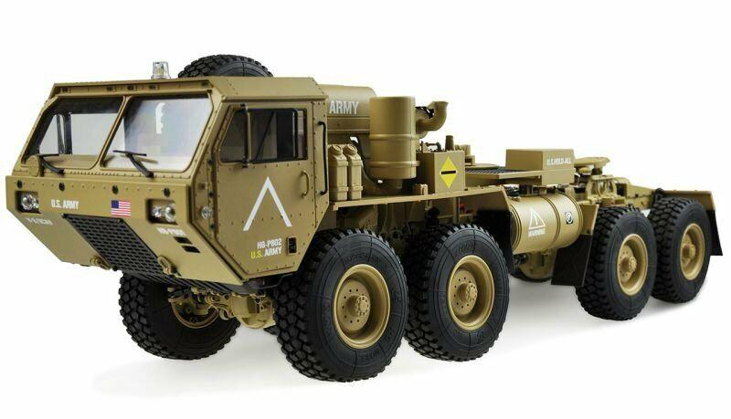 Amewi U.S. militar scale camión 8x8 1 12 con zona de carga rtr, arena