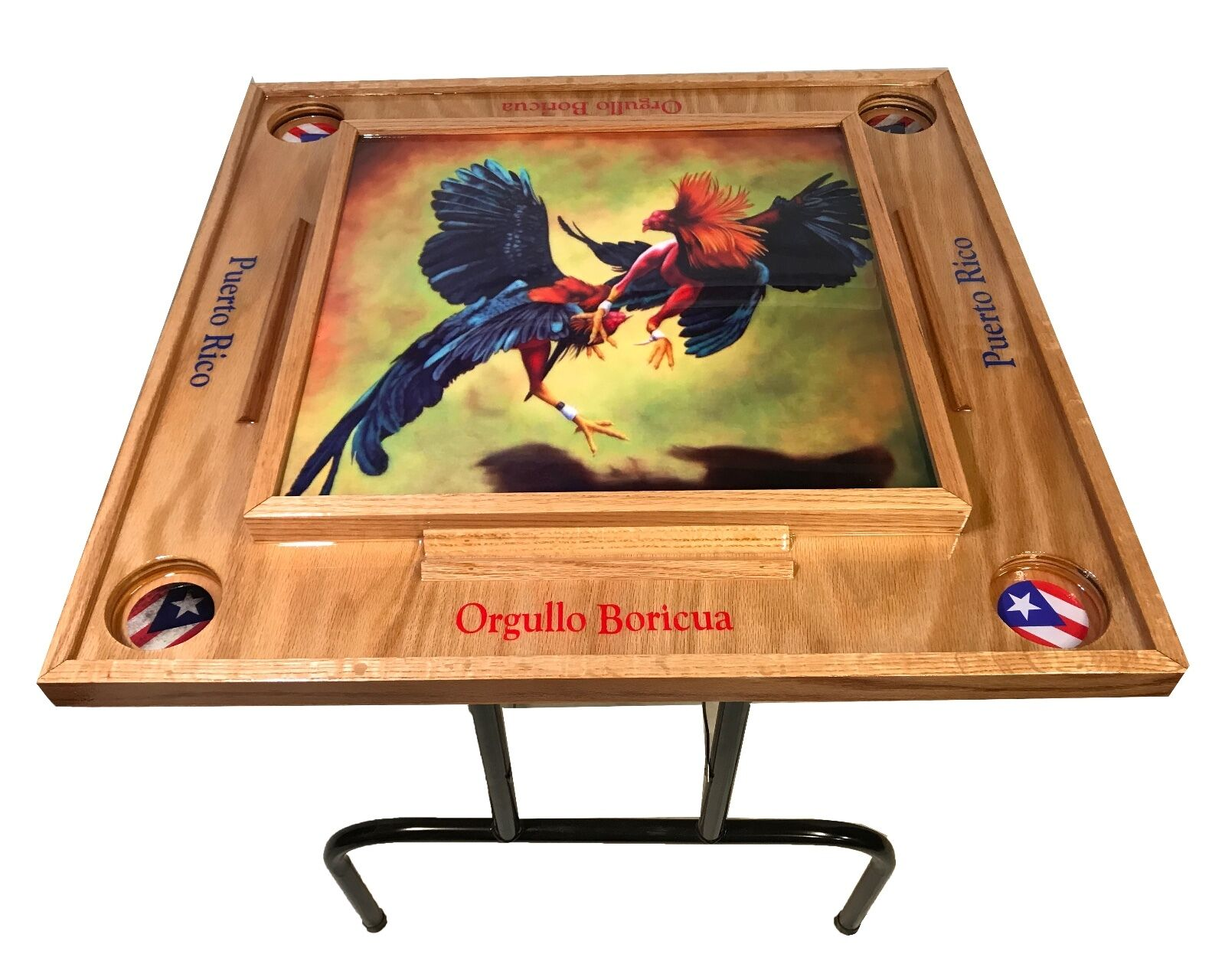 Gtuttios  Domino Table with Puerto Rico Flag  negozio online outlet