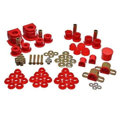 Energy Suspension 11.18101R Hyper-Flex System Red Polyurethane Bushings